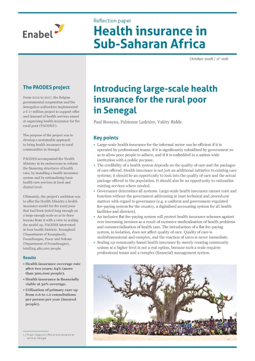 Introducing large-scale health insurance for the rural poor in Senegal