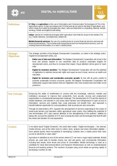 info sheet e-agriculture